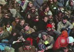 Image of Peace activists march against Vietnam War Washington DC USA, 1969, second 39 stock footage video 65675042916