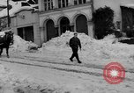 Image of shoveling snow Bludenz Austria, 1954, second 6 stock footage video 65675042927
