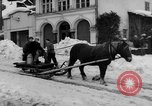 Image of shoveling snow Bludenz Austria, 1954, second 12 stock footage video 65675042927