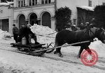 Image of shoveling snow Bludenz Austria, 1954, second 13 stock footage video 65675042927