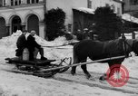 Image of shoveling snow Bludenz Austria, 1954, second 14 stock footage video 65675042927