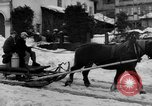 Image of shoveling snow Bludenz Austria, 1954, second 15 stock footage video 65675042927
