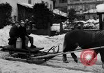 Image of shoveling snow Bludenz Austria, 1954, second 16 stock footage video 65675042927