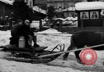Image of shoveling snow Bludenz Austria, 1954, second 17 stock footage video 65675042927