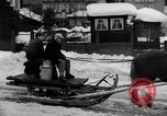 Image of shoveling snow Bludenz Austria, 1954, second 18 stock footage video 65675042927
