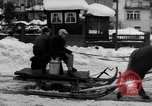 Image of shoveling snow Bludenz Austria, 1954, second 19 stock footage video 65675042927