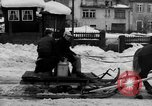 Image of shoveling snow Bludenz Austria, 1954, second 20 stock footage video 65675042927