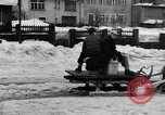 Image of shoveling snow Bludenz Austria, 1954, second 22 stock footage video 65675042927