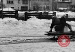 Image of shoveling snow Bludenz Austria, 1954, second 23 stock footage video 65675042927