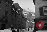 Image of shoveling snow Bludenz Austria, 1954, second 41 stock footage video 65675042927