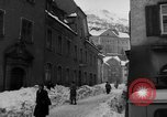 Image of shoveling snow Bludenz Austria, 1954, second 42 stock footage video 65675042927