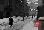 Image of shoveling snow Bludenz Austria, 1954, second 43 stock footage video 65675042927