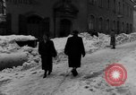 Image of shoveling snow Bludenz Austria, 1954, second 45 stock footage video 65675042927