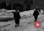Image of shoveling snow Bludenz Austria, 1954, second 46 stock footage video 65675042927