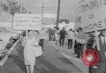 Image of Anti Castro Cuban refugees Florida United States USA, 1967, second 15 stock footage video 65675043040