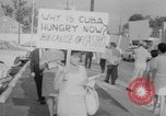Image of Anti Castro Cuban refugees Florida United States USA, 1967, second 18 stock footage video 65675043040
