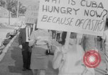 Image of Anti Castro Cuban refugees Florida United States USA, 1967, second 20 stock footage video 65675043040