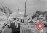Image of Anti Castro Cuban refugees Florida United States USA, 1967, second 32 stock footage video 65675043040