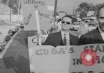 Image of Anti Castro Cuban refugees Florida United States USA, 1967, second 35 stock footage video 65675043040