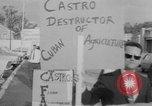 Image of Anti Castro Cuban refugees Florida United States USA, 1967, second 36 stock footage video 65675043040