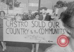 Image of Anti Castro Cuban refugees Florida United States USA, 1967, second 37 stock footage video 65675043040
