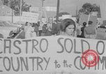 Image of Anti Castro Cuban refugees Florida United States USA, 1967, second 40 stock footage video 65675043040
