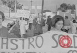 Image of Anti Castro Cuban refugees Florida United States USA, 1967, second 41 stock footage video 65675043040
