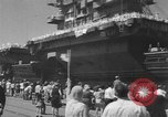 Image of Aircraft carrier Forrestal Norfolk Virginia USA, 1967, second 61 stock footage video 65675043044