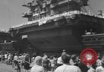 Image of Aircraft carrier Forrestal Norfolk Virginia USA, 1967, second 62 stock footage video 65675043044