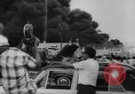 Image of Oil company warehouse under fire San Juan Puerto Rico, 1967, second 44 stock footage video 65675043046