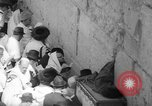 Image of Jewish New Year at Western Wall Jerusalem Israel, 1967, second 28 stock footage video 65675043048