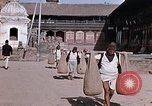 Image of group of local men Kathmandu Nepal, 1969, second 41 stock footage video 65675043061