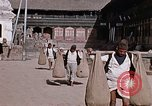 Image of group of local men Kathmandu Nepal, 1969, second 43 stock footage video 65675043061