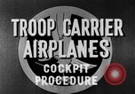 Image of Troops Carrier Airplanes United States USA, 1944, second 33 stock footage video 65675043119