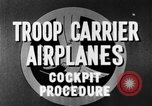 Image of Troops Carrier Airplanes United States USA, 1944, second 35 stock footage video 65675043119
