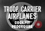 Image of Troops Carrier Airplanes United States USA, 1944, second 37 stock footage video 65675043119