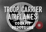 Image of Troops Carrier Airplanes United States USA, 1944, second 38 stock footage video 65675043119