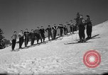 Image of Students receive instruction at U.S. Ski Patrol School Berchtesgaden Germany, 1957, second 14 stock footage video 65675043162