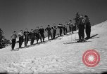 Image of Students receive instruction at U.S. Ski Patrol School Berchtesgaden Germany, 1957, second 16 stock footage video 65675043162