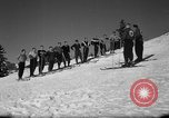 Image of Students receive instruction at U.S. Ski Patrol School Berchtesgaden Germany, 1957, second 17 stock footage video 65675043162