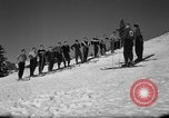 Image of Students receive instruction at U.S. Ski Patrol School Berchtesgaden Germany, 1957, second 18 stock footage video 65675043162