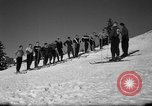 Image of Students receive instruction at U.S. Ski Patrol School Berchtesgaden Germany, 1957, second 24 stock footage video 65675043162