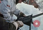 """Image of Canadian machine gun emplacement in NATO Exercise """"Arctic Express"""" Norway, 1970, second 32 stock footage video 65675043186"""