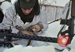 """Image of Canadian machine gun emplacement in NATO Exercise """"Arctic Express"""" Norway, 1970, second 37 stock footage video 65675043186"""