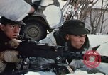 """Image of Canadian machine gun emplacement in NATO Exercise """"Arctic Express"""" Norway, 1970, second 57 stock footage video 65675043186"""