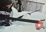"""Image of Canadian machine gun emplacement in NATO Exercise """"Arctic Express"""" Norway, 1970, second 61 stock footage video 65675043186"""