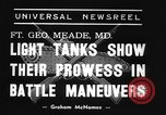 Image of 66th United States infantry tanks Fort Meade Maryland USA, 1938, second 3 stock footage video 65675043242
