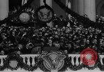 Image of President Franklin D Roosevelt fear itself speech Washington DC USA, 1933, second 36 stock footage video 65675043256