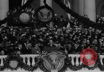 Image of President Franklin D Roosevelt fear itself speech Washington DC USA, 1933, second 42 stock footage video 65675043256