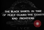 Image of Italian Black Shirt Guards Italy, 1929, second 2 stock footage video 65675043260